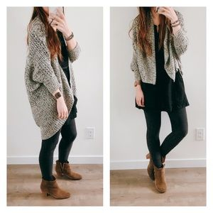 Japanese 2way knitted cocoon cardigan